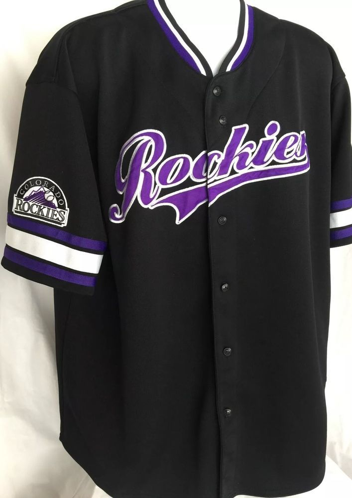 09aad499814 Colorado Rockies Baseball Jersey Men 2XL Stitches Athletic Wear Genuine Vtg