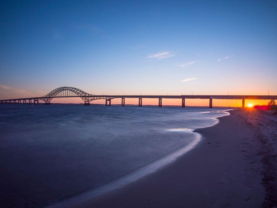 Long Island Sunset Robert Moses Bridge