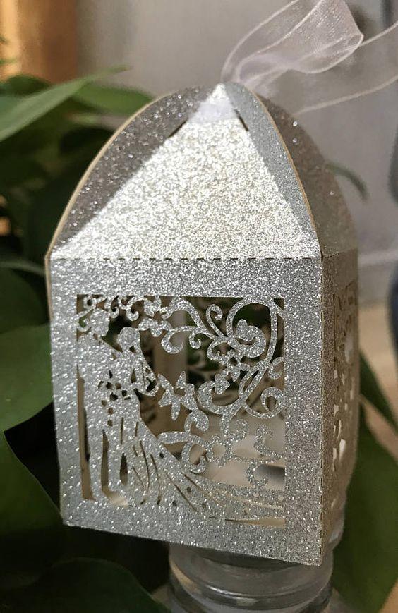 Laser Cutting Wedding Gift Box Caja De Regalo Boda Corte Por Láser