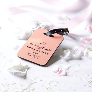 Personalised Couple / Wedding Luggage Tag - luggage tags & passport ...