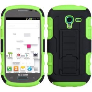 Insten / Green Phone Case Cover with Stand for Samsung Galaxy T599 Exhibit #1337755
