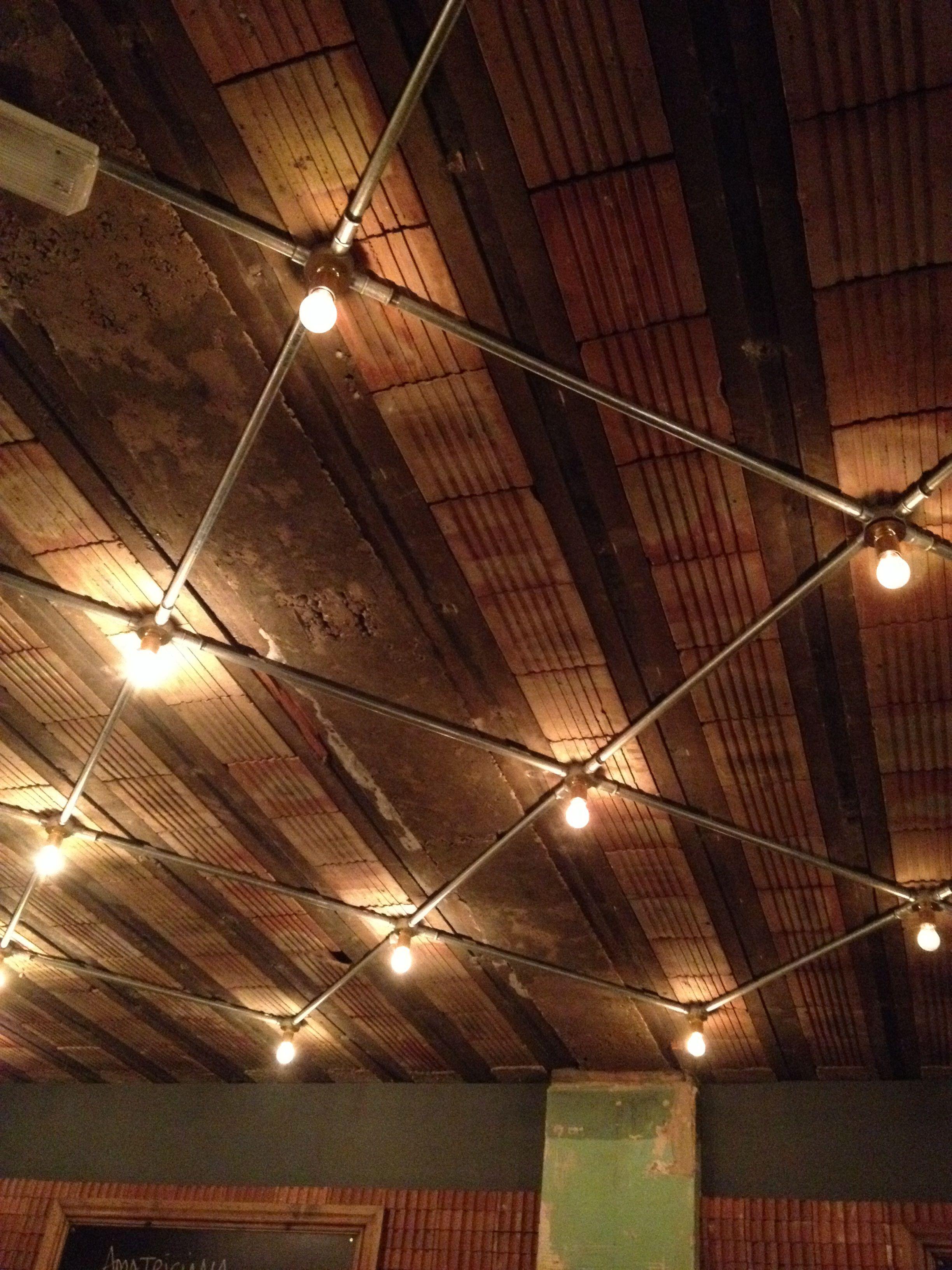 Hostel Lighting Lobby Pinterest Industrial Ceiling Design - Basement light fixture