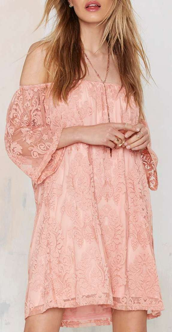 I\'m So Baroque Off-the-Shoulder Lace Dress | Casual2 | Pinterest ...