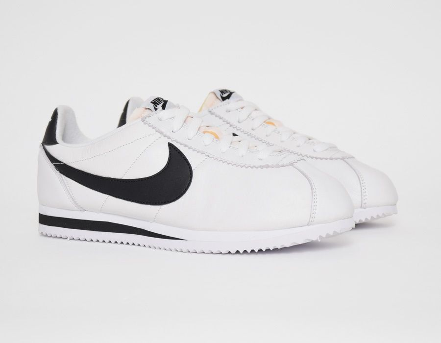 on sale 32480 edb34 ... purchase nike cortez white black sneakers 78705 e0576