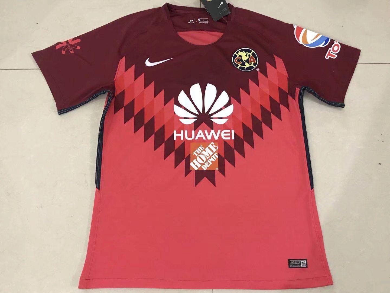 brand new 4a27e edb1d Club America Jersey 2017/18 Goalkeeper Red Soccer Shirt ...