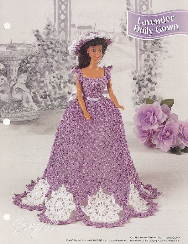 Violets /& Lace Outfit fits Barbie Doll NEW Annie/'s Crochet Pattern Leaflet