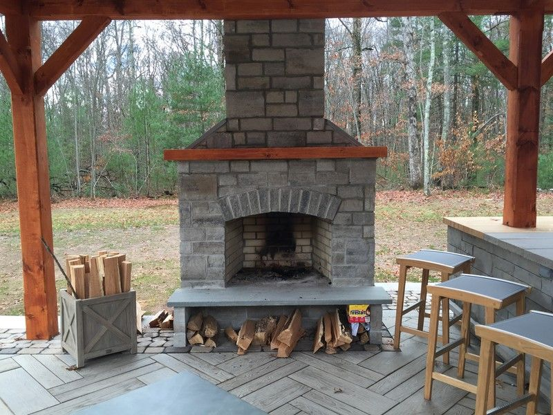 Outdoor Fireplace Kits Easy To Assemble Beautiful In