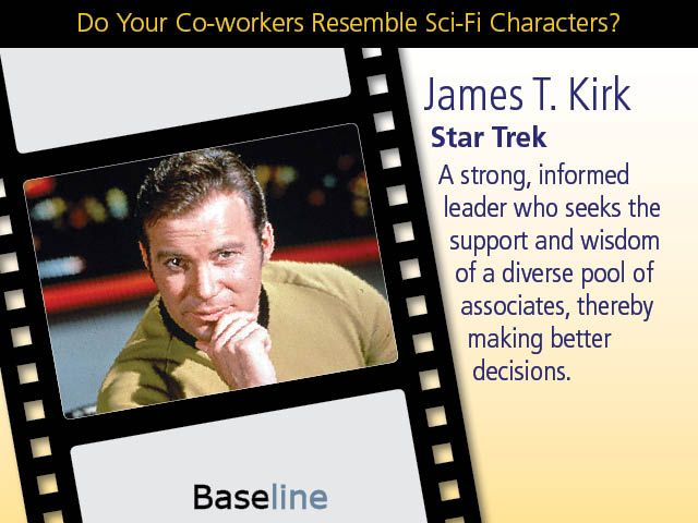 Do Your Co-workers Resemble Sci-Fi Characters?   Which one of these most resembles your boss?