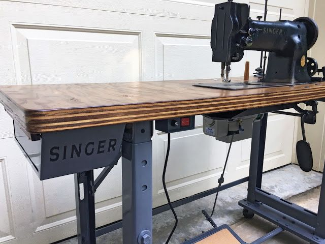 Used Sewing Machine Table.Singer 111w152 Industrial Sewing Machine Project Sewing