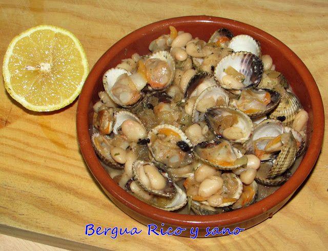 Comer rico y sano: Berberechos con alubias y ajo negro