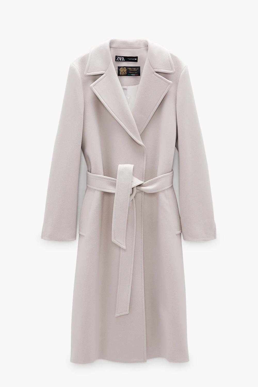 Belted Wool Blend Coat Zara United States Wool Coat Outfit White Wool Coat Long Wool Coat [ 1500 x 1000 Pixel ]