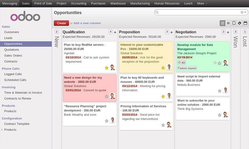 Odoo Open Source Business Apps Formerly Openerp Linux Crm Enterprise