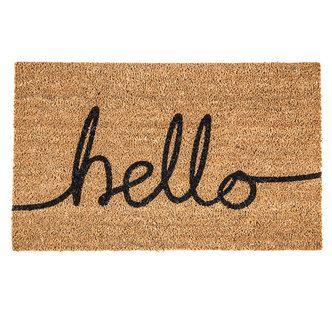 Hello Welcome Mat Hobbylobby Com 19 99 Hello Doormat Door Mat Decorative Pillows