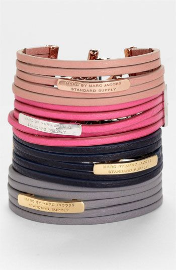MARC BY MARC JACOBS Multistrand Leather Bracelet available at #Nordstrom