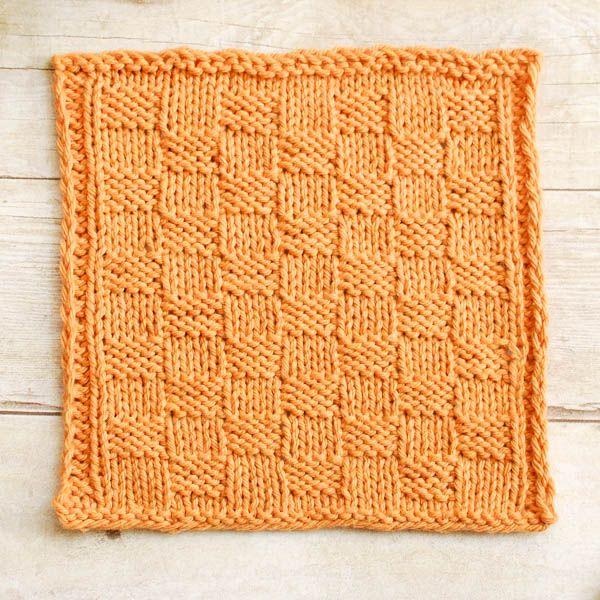 Basket Weave Knit Dishcloth Pattern | Knitted dishcloth patterns ...