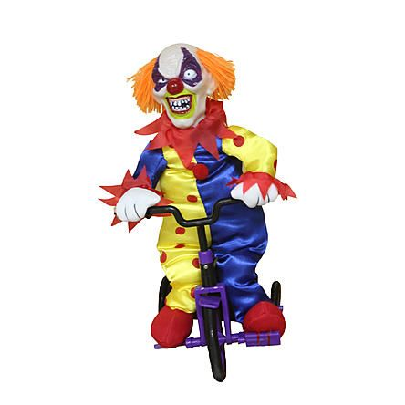 Totally Ghoul Halloween Animated Clown On Tricycle Halloween - animated halloween decorations