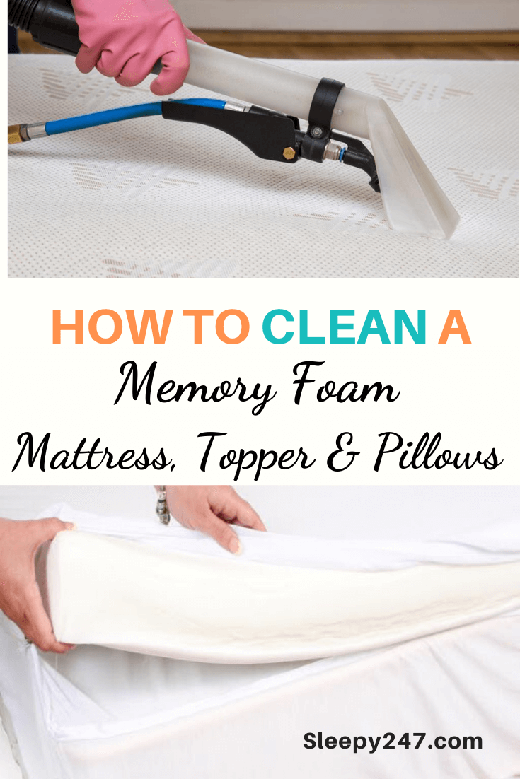 How To Clean A Memory Foam Mattress Topper And Pillows Clean Memory Foam Mattress Memory Foam Mattress Clean Foam Mattress