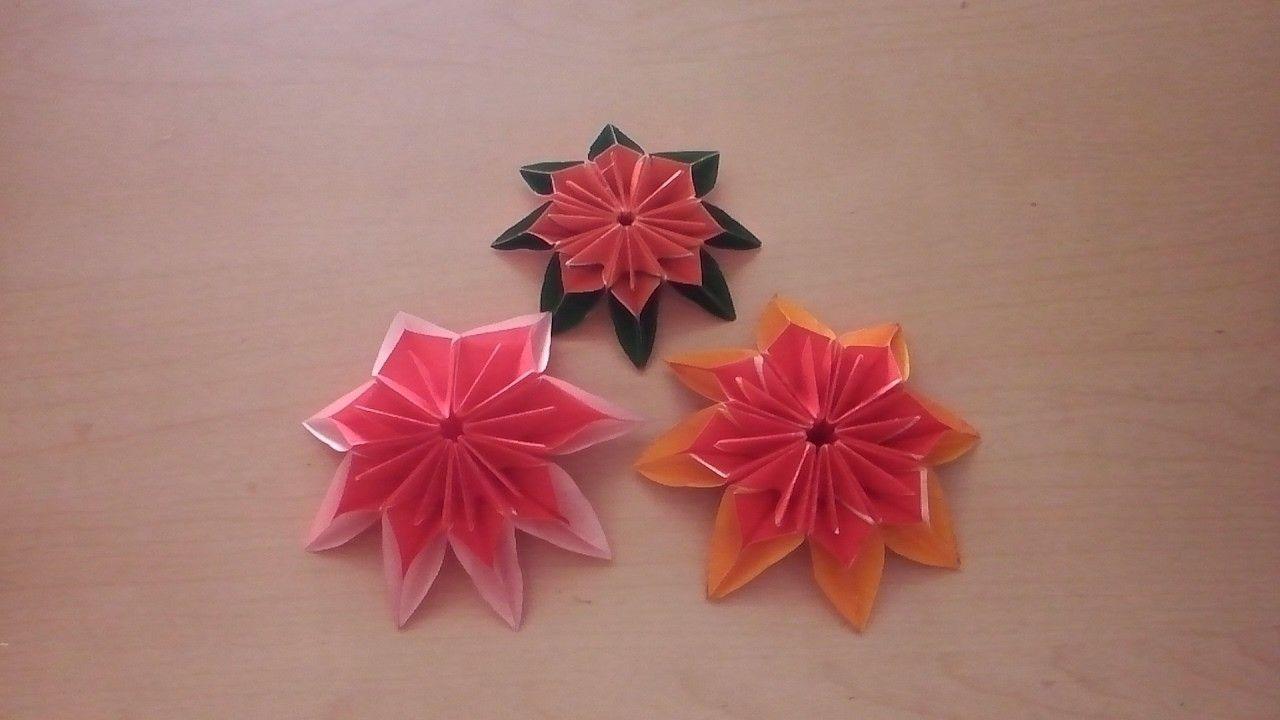 Origami blume falten diy origami flower papercraft origami blume falten diy origami flower mightylinksfo