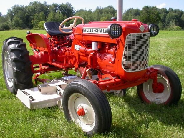 33hp Allis Chalmers D12 With 72 Belly Mower Woods L306