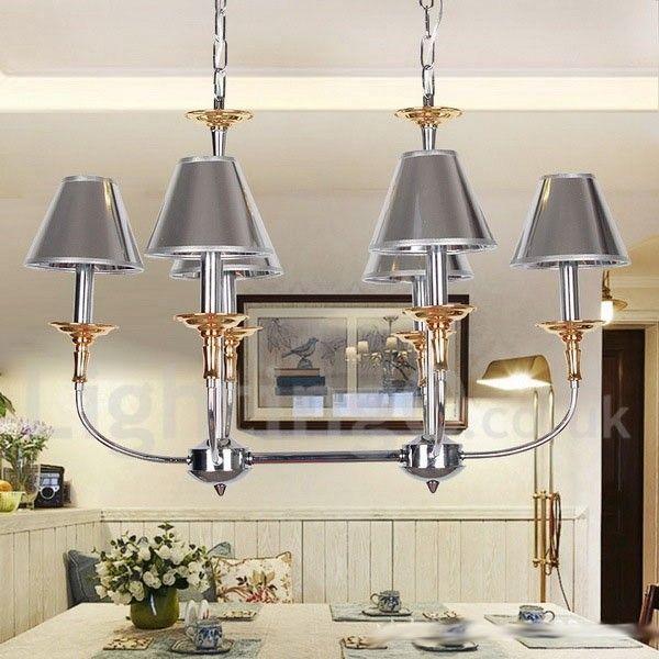 6 Light Modern / Contemporary Chrome Living Room Dining ...