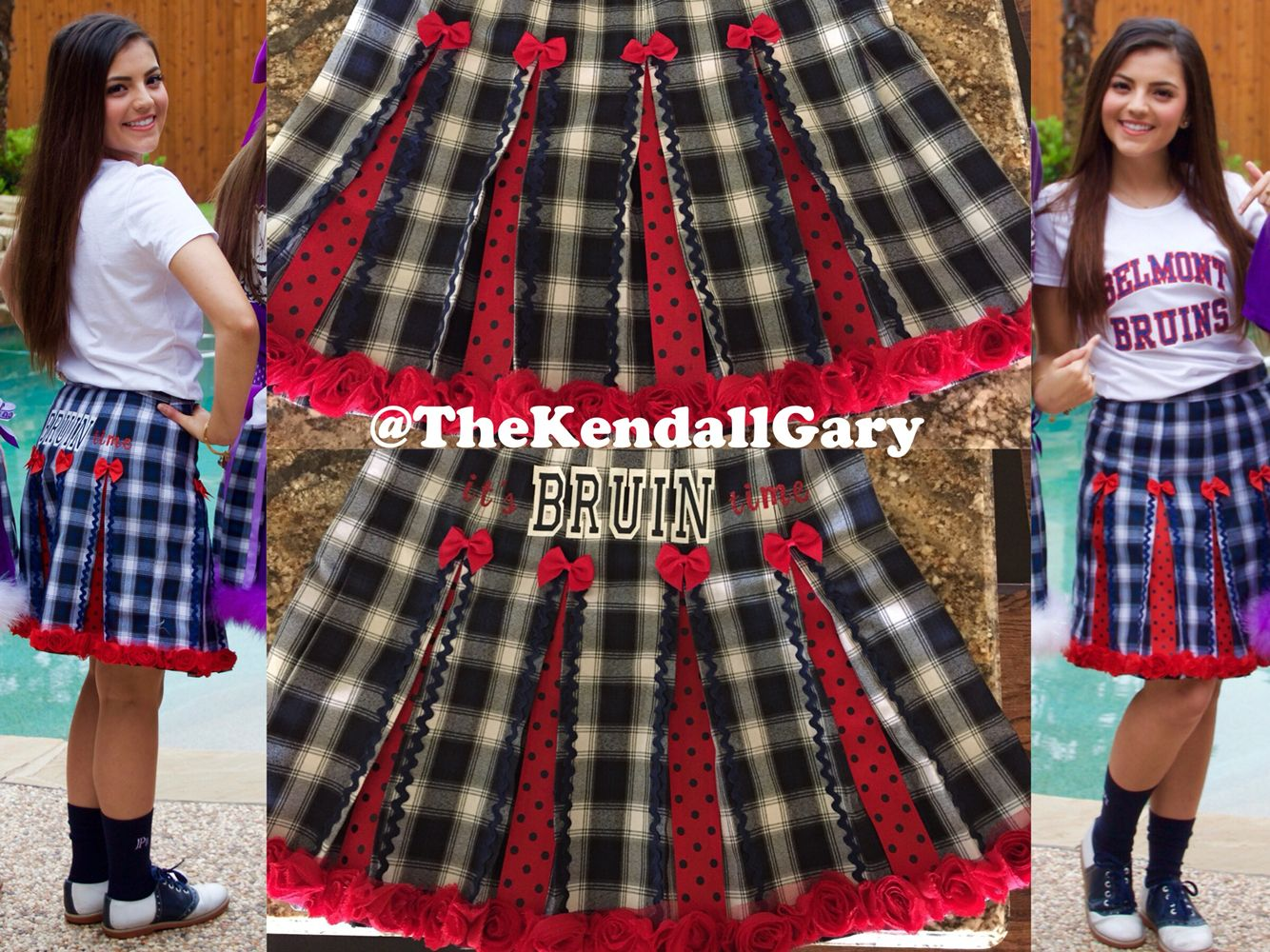 f683629fcd College Day--Decorated uniform school skirt for Belmont University (Belmont  Bruins, It's Bruin Time). | Pinterest: @TheKendallGary