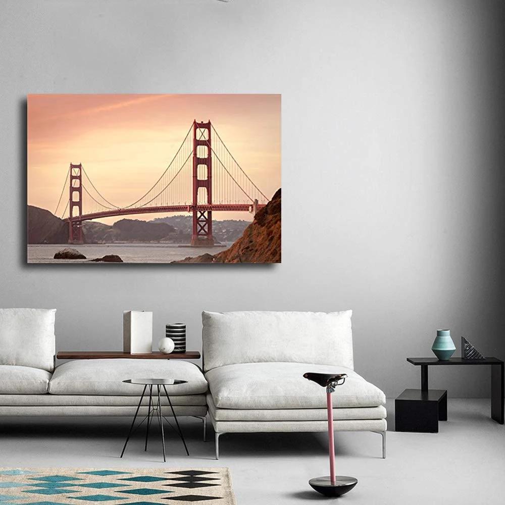 Golden Gate Bridge Canvas Wall Art Avail Wall Golden Gate Bridge Canvas Canvas Wall Art Bridge Canvas