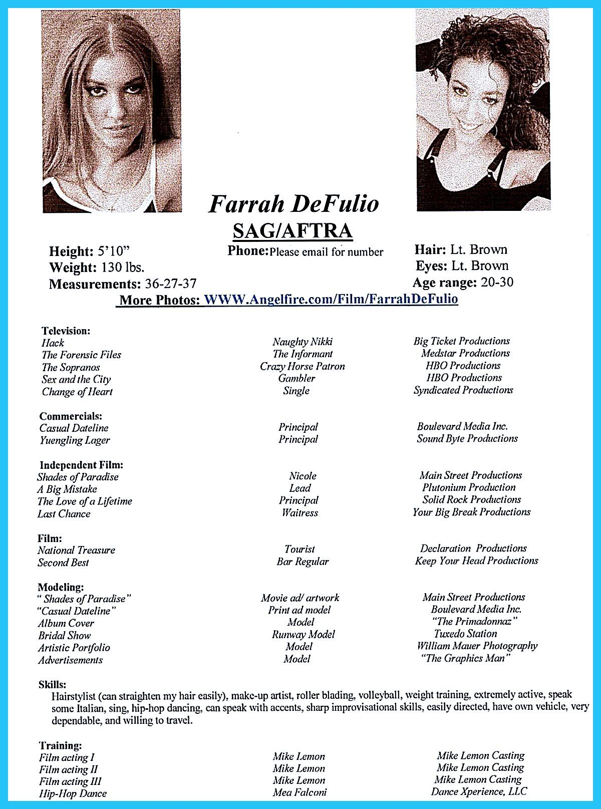 Actor resume template gives you more options on how to