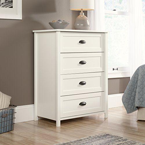 Best Sauder Furniture 416976 County Line Soft White 4 Drawer D 400 x 300
