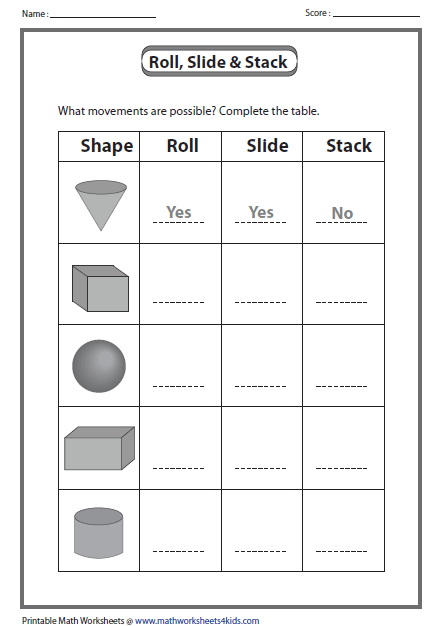 Help Your Child Practice His Spatial Perception With This Printable Worksheet Which Asks 3d Shapes Worksheets Shapes Worksheets Shapes Worksheet Kindergarten