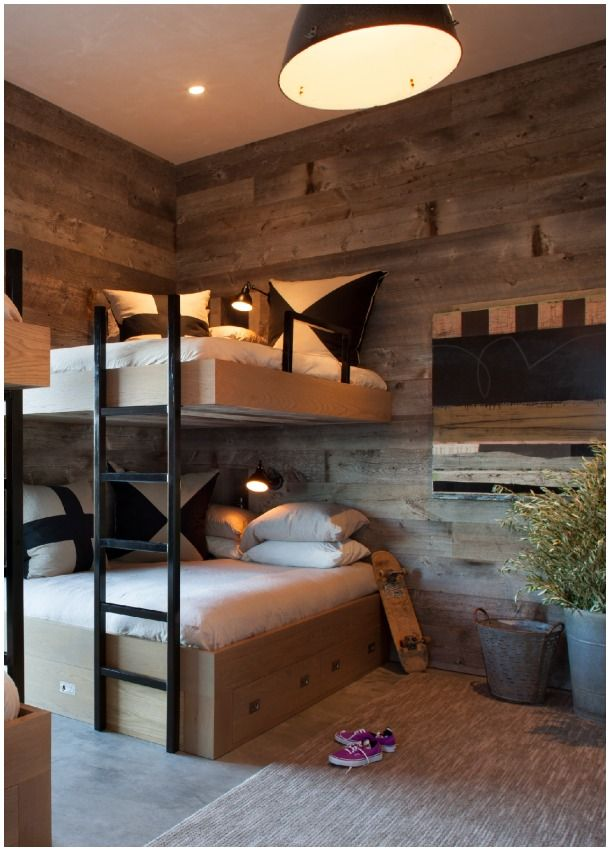 Stacked 14 Bunk Rooms that Celebrate Form