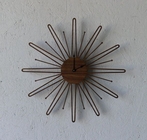 Delicieux Mid Century Modern Inspired Clock