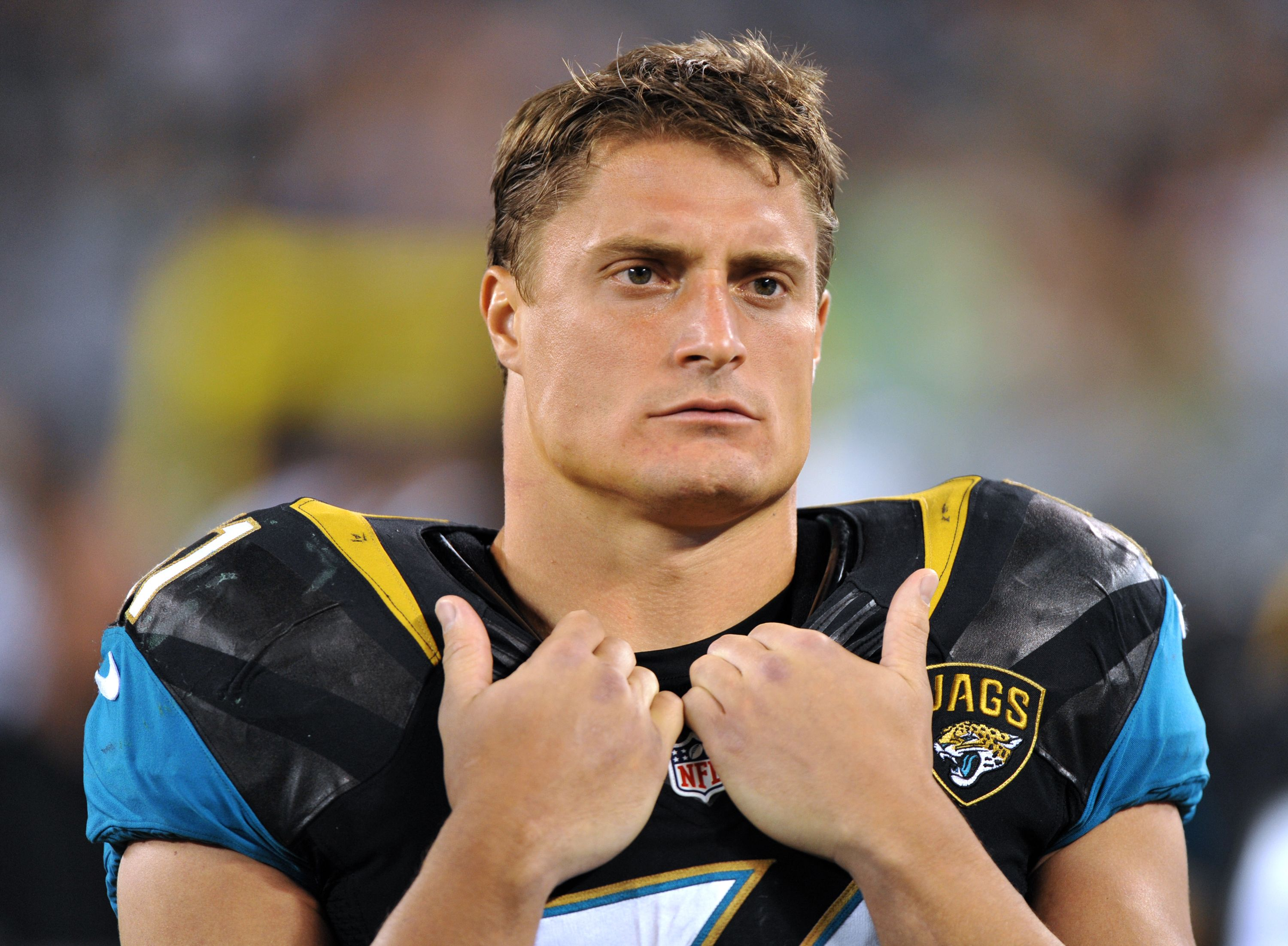 83de704ff Jacksonville Jaguars linebacker  51 Paul Posluszny on the sideline against  the New York Jets during a preseason game Saturday August 17
