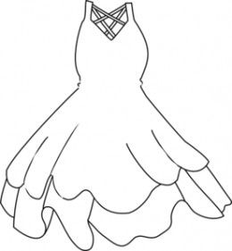 Beautiful dresses coloring pages