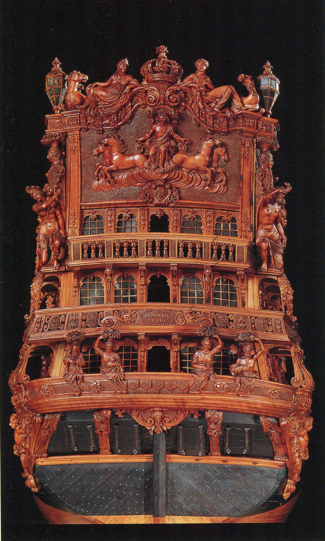 Jean-Baptiste Tanneron, Le Soleil Royal (d'après). Atelier des modèles du Musée naval du Louvre, Paris, reconstitution en 1839 d'un vaisseau de 1689 ou 1693, Paris, musée national de la Marine, inv. 7 MG
