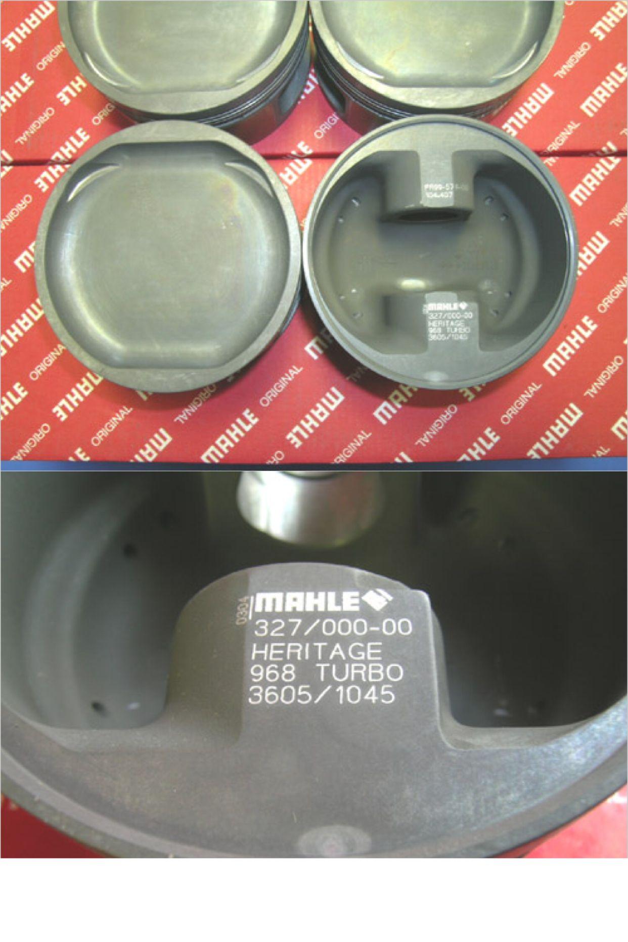 HMR/MAHLE Porsche 968 16v turbo piston, forged 104 50mm 8 5