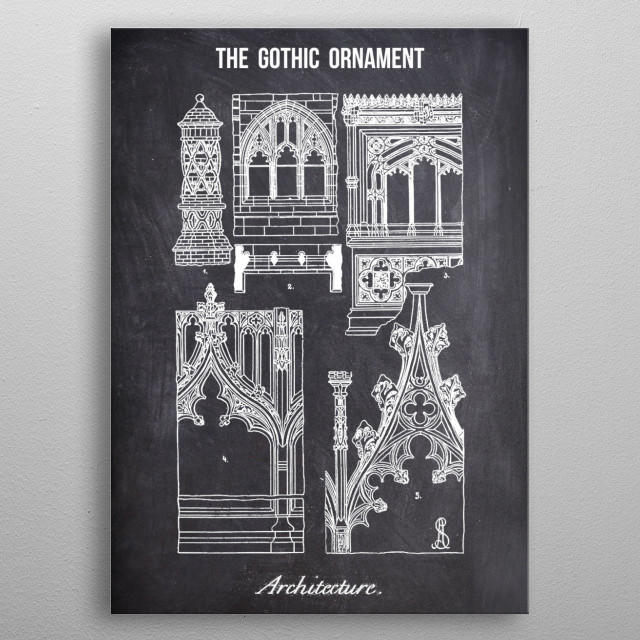 the gothic ornament by FARKI15 DESIGN | metal posters - Displate | Displate thumbnail