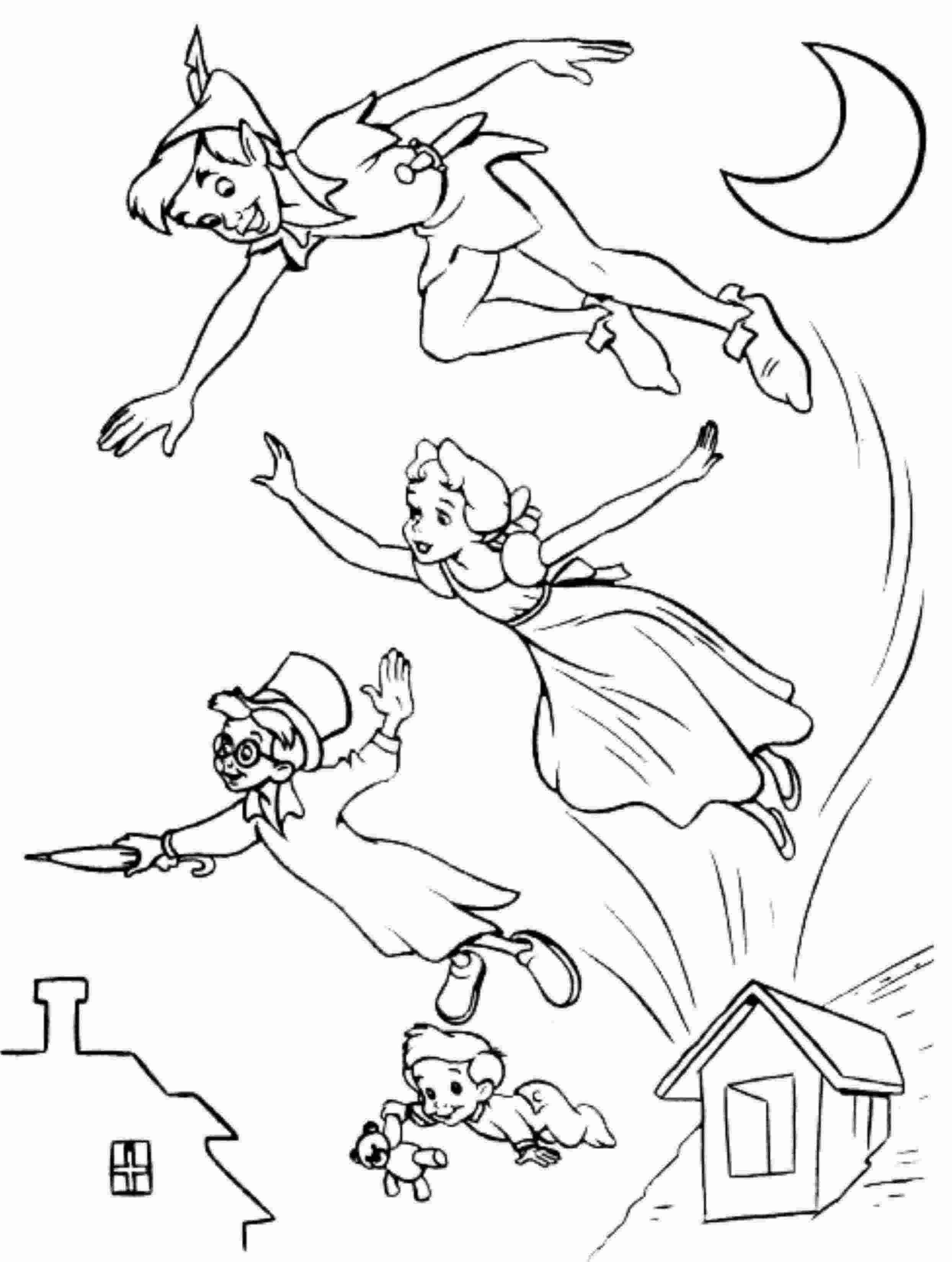 Peter Pan Childrens Free Coloring Pages Peter Pan Flying Coloring Pages Coloring Home Pages Coloring Peter Pan Childrens Free 89402