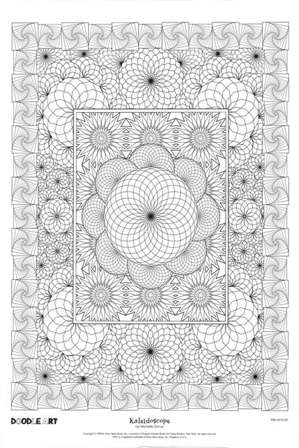 KALEIDOSCOPE doodle art colouring