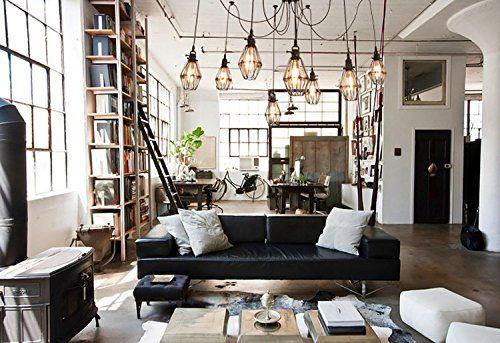 apartment design im industriellen stil loft, yuewei®edison industriellen stil vintage loft kronleuchter 5 in, Design ideen