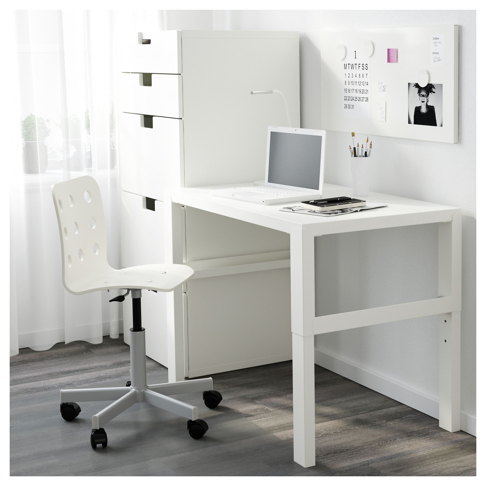 Ikea  P Hl Desk White