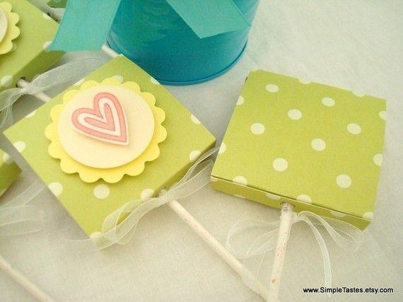 Baby Shower Lollipop Favors Set of Ten by SimpleTastes on Etsy, $14.50