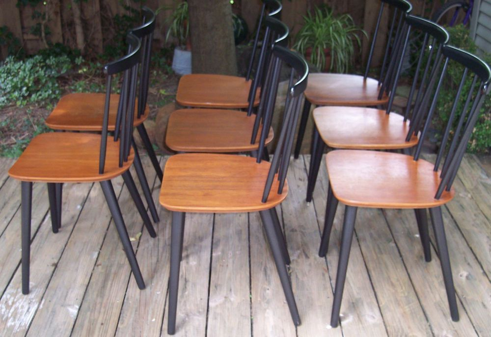 Set 8 Original Mid Century Modern Farstrup 226 Dining Chairs