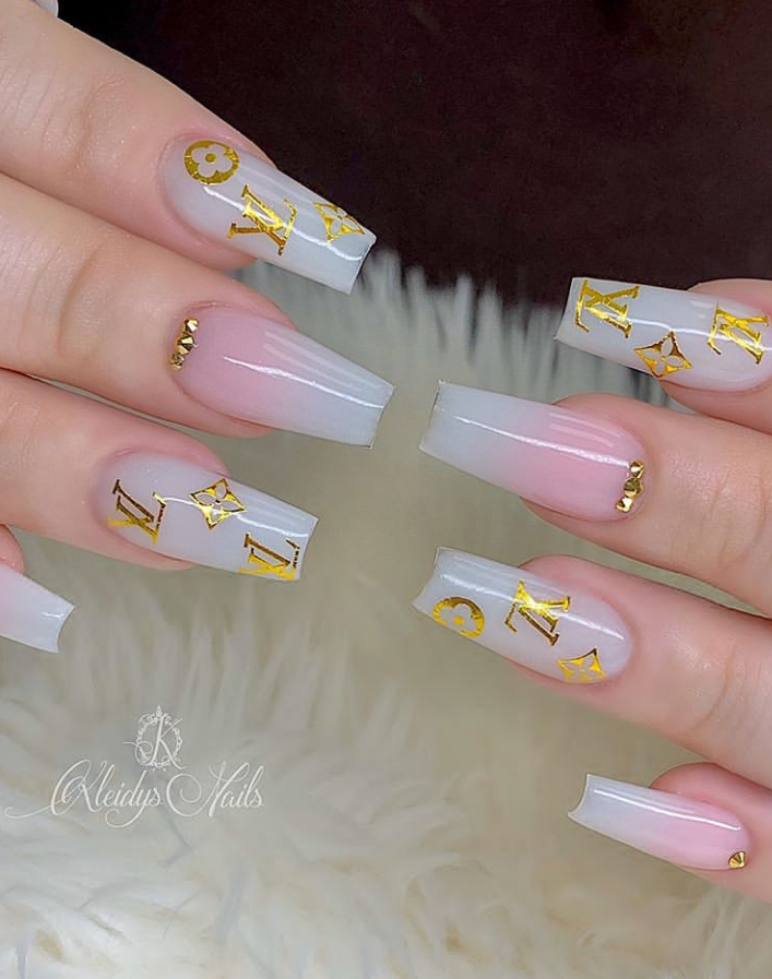 35 Beautiful Acrylic Pink Coffin Nails Design 1To Be A Pretty Girl - Page 10 of 12