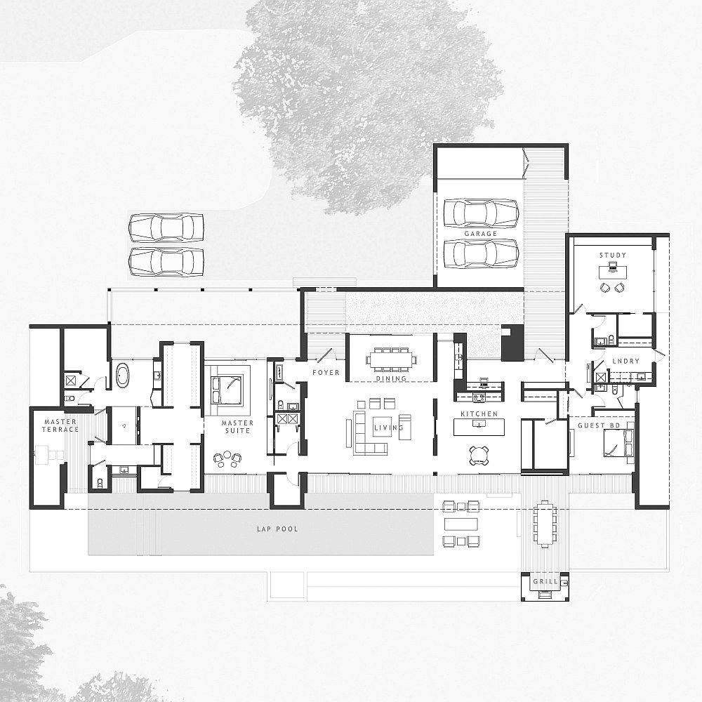 Floor Plan Of The Gorgeous Contemporary Lakehouse In Florida Decoist Floor Plans Architecture House And Home Magazine