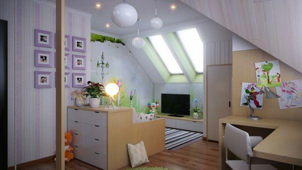 Kinderzimmer ideen für mädchen schräge  Kinderzimmer Dachschräge - einen Privatraum erschaffen | Beispiele ...
