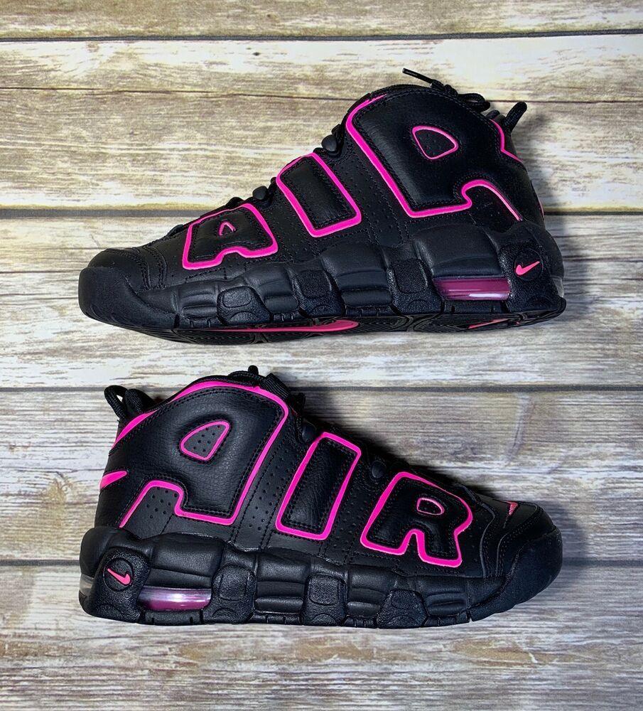 san francisco f965b 63f6d Nike Air More Uptempo GS 415082-003 Black Pink Blast Youth Sz 7Y Women Size  8.5  Nike