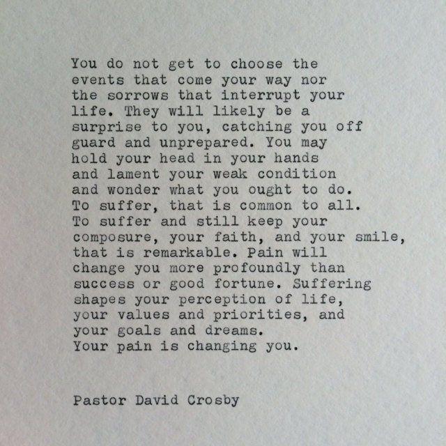 Inspirational Typewriter Quote / Typed On Typewriter | Etsy
