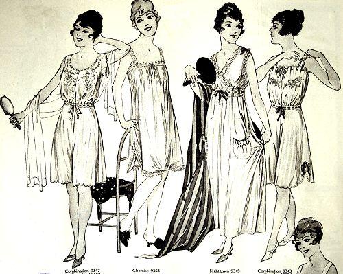 Butterick patterns for ladies' underwear, Delineator, August 1917.