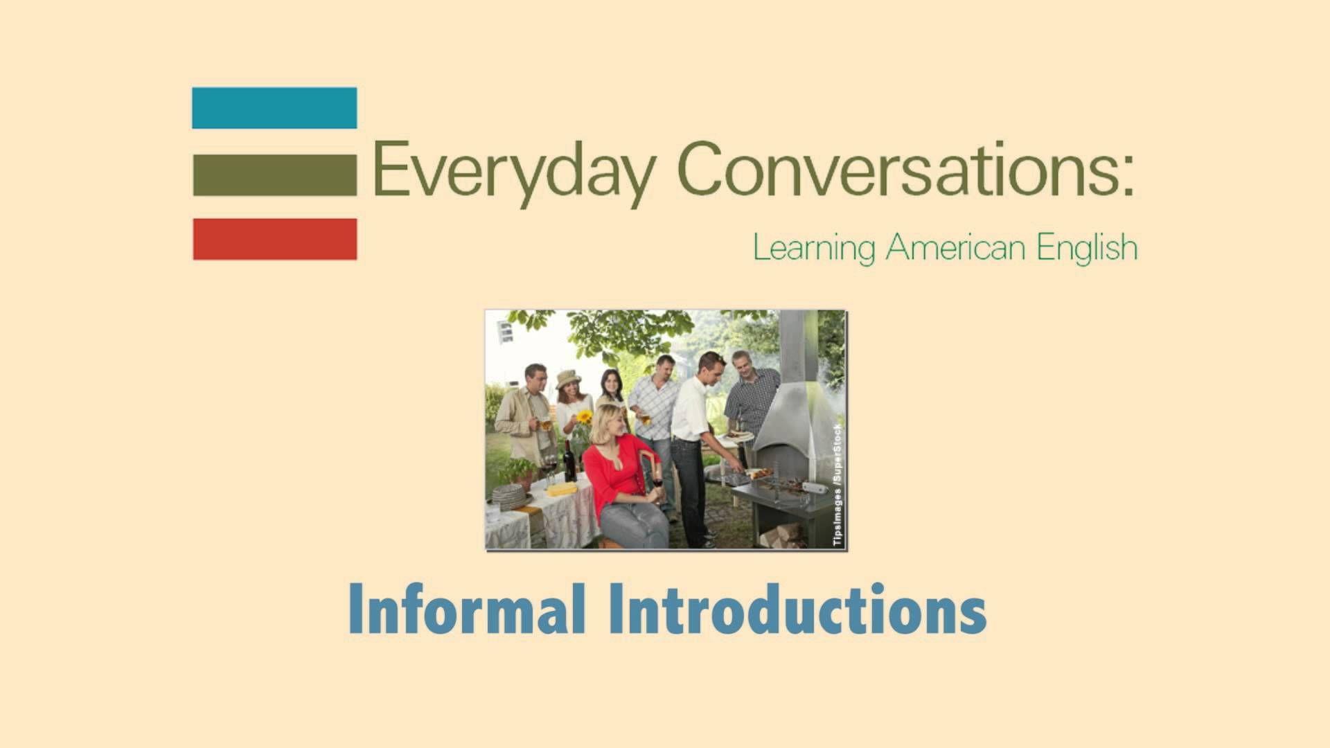 Dialogue 1 4 Informal Introductions