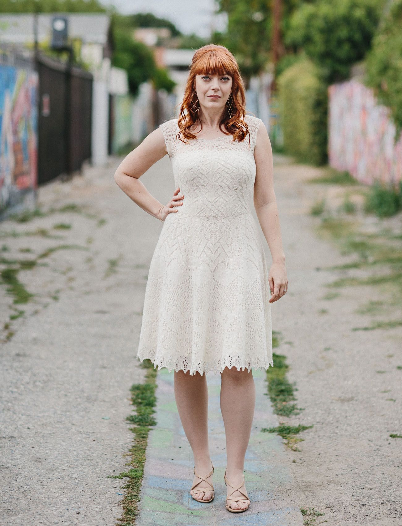 The Bride Knit Her Own Dress for This Handmade LA Wedding